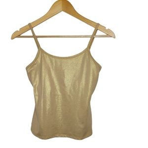New York & Company Intimates Gold Shimmer Cami